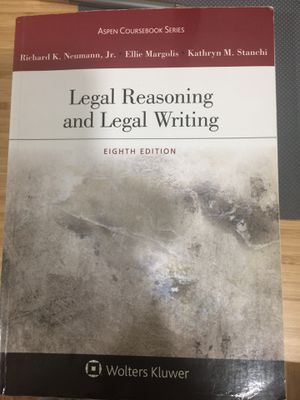 Legal reasoning and legal writing, eighth edition, Richard K. Neumann. Jr., etc for Sale in Queens, NY