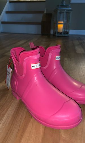 Pink rain boots, hunter brand size 9 women's for Sale in Columbia, MD