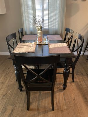 Dark Weathered Wooden Table & Chairs for Sale in Englewood, CO