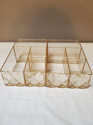 Gold Plastic Storage Organizers Containers $6.00 Each for Sale in Gardena, CA
