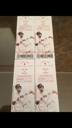 Red Sox Tickets for Sale in Winthrop, MA