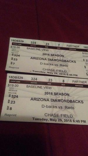 Arizona Diamondbacks game today for Sale in Phoenix, AZ