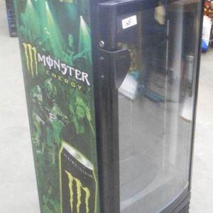 Lot Description: Monster Energy Drink Model G-8 Glass-Front Lighted Beverage Cooler, Light & Fan Work But Unit Does Not Cool for Sale in Bonney Lake, WA