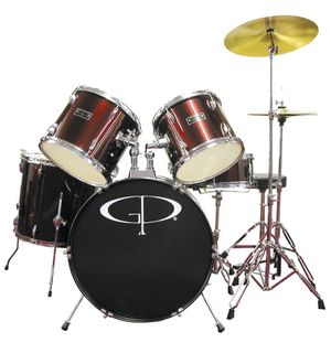 GP Percussion 5 Piece Drum Set (RED) for Sale in East Los Angeles, CA