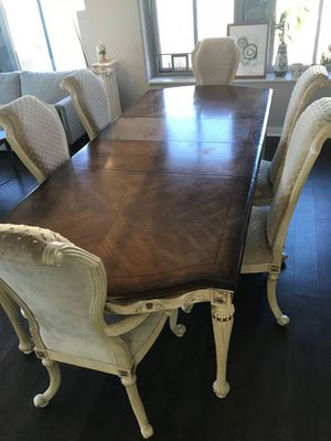 Luxury Handmade Dining Table Set (6 Chairs included) for Sale in Chicago, IL
