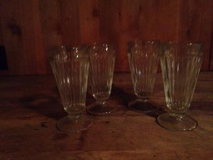 "A set of 4 antique 7 "" high ice cream soda glasses. for Sale in Portland, OR"