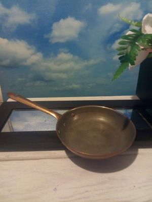 Vintage, pot, Skillet, pan, kitchen, copper, metal, frying pan for Sale in VLG WELLINGTN, FL