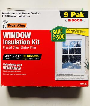 "Window insulation kit 42"" x 62"" - 9 sheets for Sale in El Cerrito, CA"