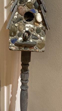 Old stone birdhouse stake for Sale in Auburn,  WA