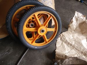 John Deere mower bag & rear wheels for lawn mower for Sale in Decatur, GA
