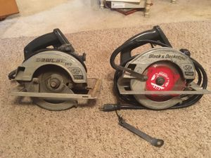 """2 saws 7 and 1/4"""" professional grade for Sale in Jolivue, VA"""