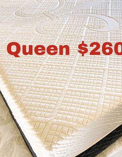 💥Brand new Blue Gel Memory Foam Mattress💥 Queen Mattress only-$260 Mattress & box spring-$320 Full Mattress only-$235 Mattress & box spring for Sale in Alhambra,  CA