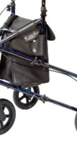 Carex 3 Wheel Walker for Seniors, Foldable, Rollator Walker with Three Wheels, Height Adjustable Handles for Sale in Marietta,  GA