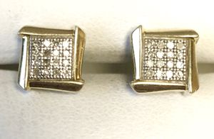 Diamond earrings in Silver 925 $200 for Sale in Portland, OR