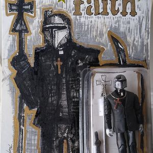 Boba Fett Custom Action Figure, Star Wars, Mandalorian With Faith for Sale in Albuquerque, NM