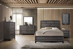 4 Pcs Bedroom Set Dresser Mirror Queen Bed & Night Stand for Sale in Chula Vista, CA