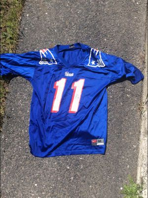 Throwback Patriots Jersey (hole underneath right sleeve) for Sale in Quincy, MA