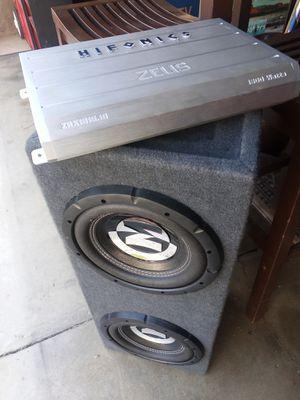 10s Memphis subwoofers and hifonics amp for Sale in La Puente, CA