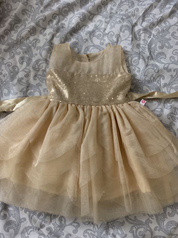 Baby girl Holiday dress Gold color - Size (6-9 months)