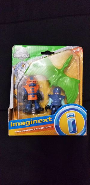 Imaginext Jurassic World Park Workers & Pterodactyl for Sale in Hialeah, FL