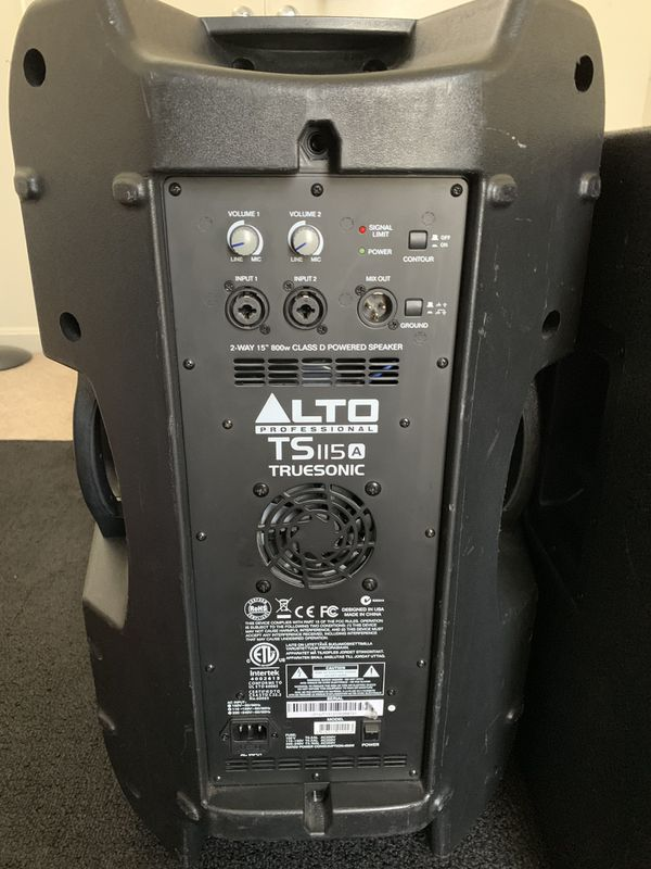 "Alto Professional Dj 15""powered set up"