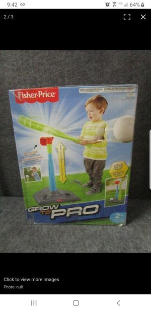 Grow to pro Fisher price baseball for Sale in Tempe, AZ