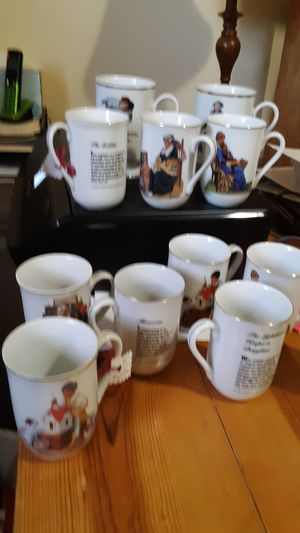 Collector Norman Rockwell coffee cups for Sale in Lakeside, AZ