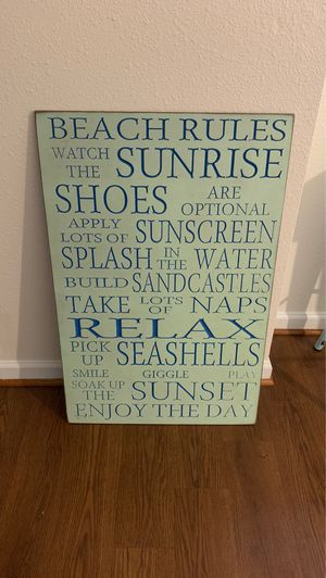 Home decor sign for Sale in Quantico, VA