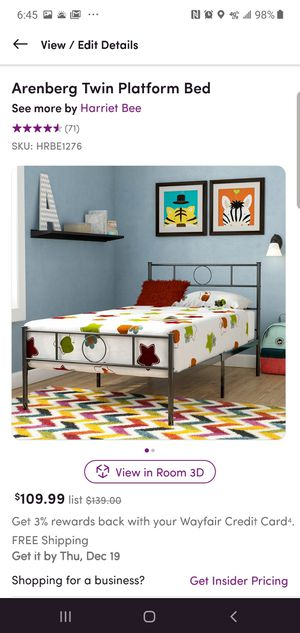 Metal twin bed for Sale in Raleigh, NC