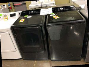 Black Samsung Top Load Washer and Electric Dryer Set ‼️ GRYWK for Sale in Los Angeles, CA