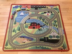 Melissa & Doug play rug + 5 wooden cars for Sale in New York, NY