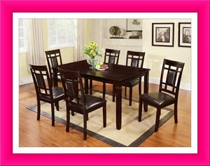 Solid wood dining table brand new 7 pcs for Sale in Hillcrest Heights, MD