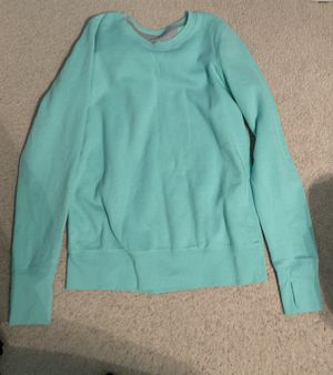 Tek Gear Teal sweatshirt with thumb holes size medium for Sale in Maple Heights, OH