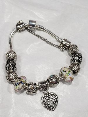DIY Charm Bracelet - Flora White, Murano for Sale in Puyallup, WA
