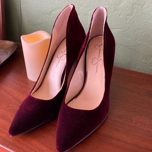 Jessica Simpson Heels Plush Red for Sale in Tualatin, OR