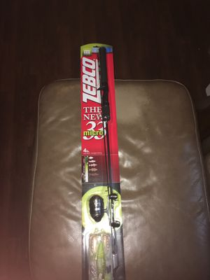 Zebco 33 micro fishing rod with bait for Sale in Fayetteville, GA