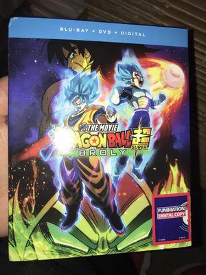 Dragon ball Z Super Broly blu Ray dvd digital code new for Sale in Hayward, CA