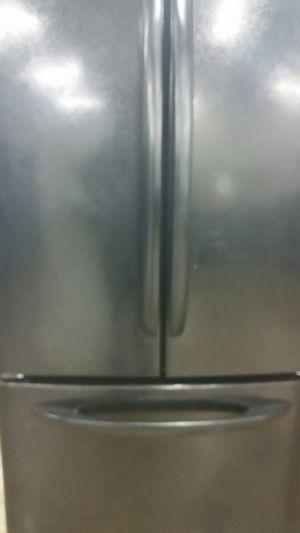Black french door refrigerator bottom freezer ice maker for Sale in Alexandria, VA