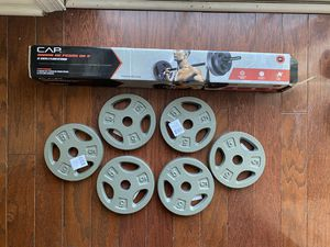 CAP Curl Bar + (4) 10lb plates & (2) 5lb plates for Sale in Mount Laurel Township, NJ