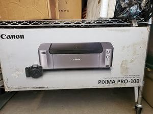 Canon PIXMA PRO-100 Wireless Professional Inkjet Photo Printer and Photo Paper Pro Luster 13x19 for Sale in Downey, CA