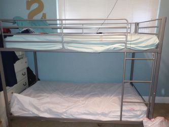 Gently Grey Metal Twin Bunk Bed for Sale in Fort Lauderdale,  FL