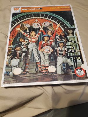 Vintage Walt Disney's Mickey Mouse Club Frame Tray Puzzle Whitman for Sale in La Mirada, CA