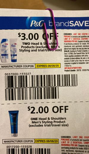 Head& shoulders coupons for Sale in Fontana, CA