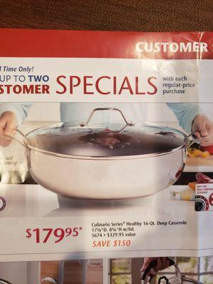 Princess House Culinario Series 16 Qt. Deep Casserole - NEW for Sale in Rialto, CA