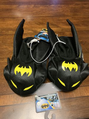 Batman Toddler Slippers size large 9-10 for Sale in Mansfield, TX