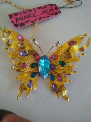 Elusive Rhinestone Yellow Butterfly Necklace/Pin for Sale in Spring Hill, FL