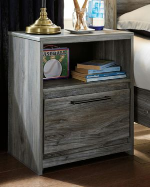 Ashley Furniture Gray Nightstand with USB Port for Sale in Santa Ana, CA