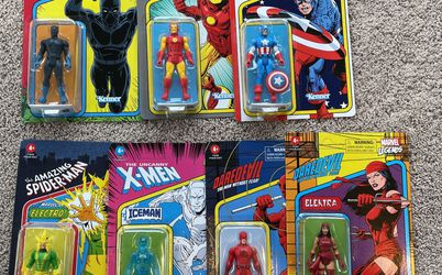 Marvel Legends 2021 Retro Series Lot of 7 Action Figures Kenner for Sale in Stony Brook,  NY