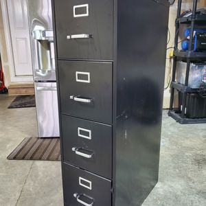 Black Metal FILE Cabinet By STAPLES for Sale in Covington, WA