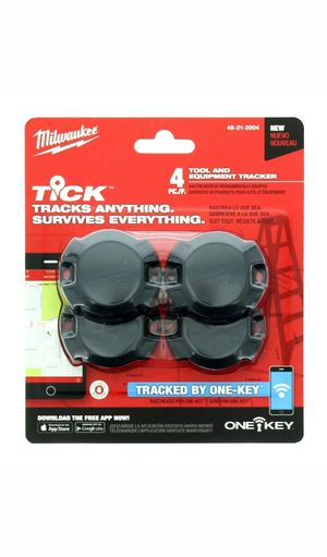 Milwaukee Tick Tool Equipment Tracker Bluetooth 4-Pack 48-21-2004 for Sale in Moonachie, NJ
